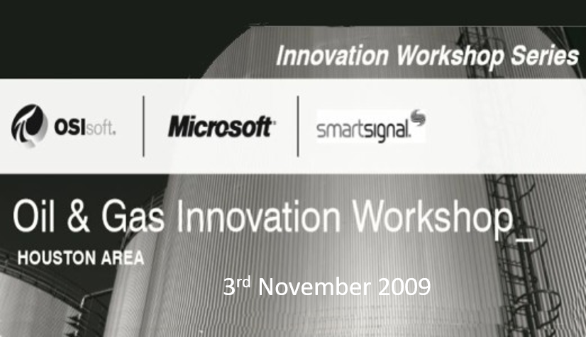 Oil and Gas Innovation Workshop<Houston, 3rd November 2009</span>