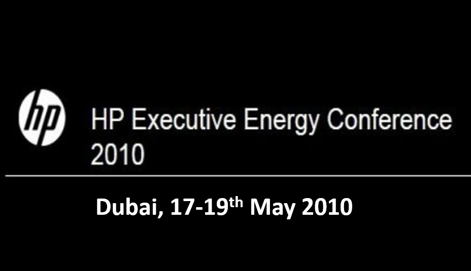 HP Executive Energy Conference<span> Dubai, 17-19th May 2010</span>