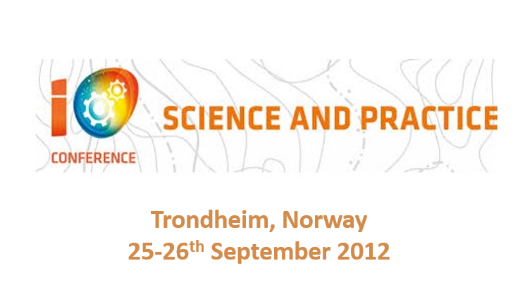 International Conference on Integrated Operations <span> Trondheim, Norway, 25-26th September 2012</span>