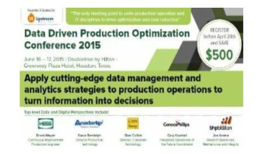 Data Driven Production Conference<span> Houston, Texas, 16-17th June 2015</span>