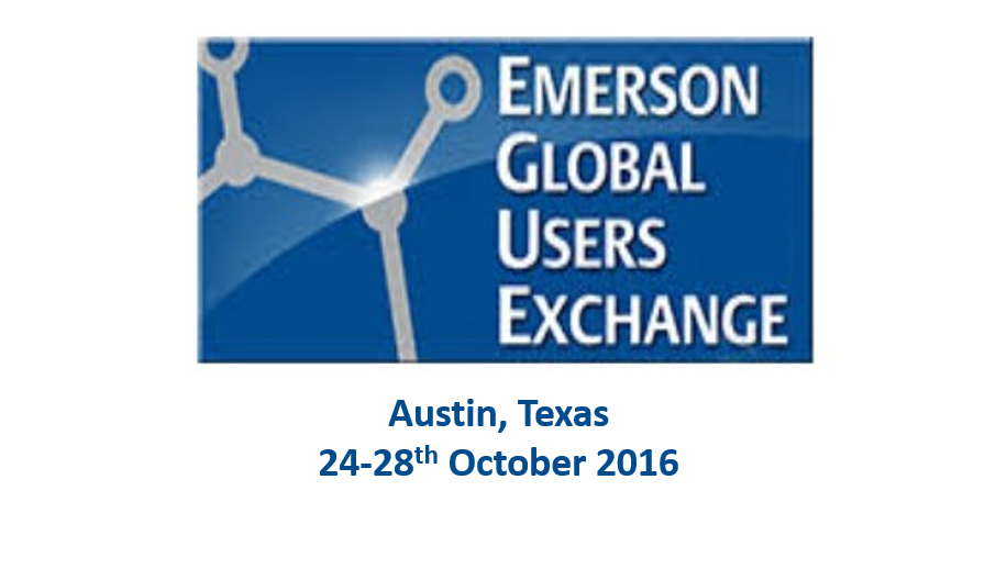 Emerson Exchange – Accelerate your Learning<span> Austin, Texas, 24-28th October 2016</span>