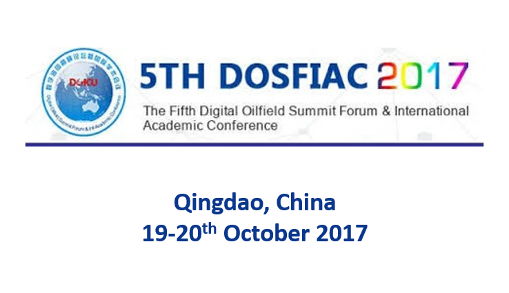 Fifth Digital Oilfield Summit Forum<span> Qingdao, China, 19-20th October 2017</span>